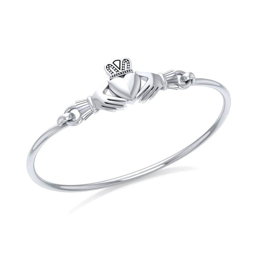 Irish Claddagh Spring Lock Bracelet TBG273 peterstone.