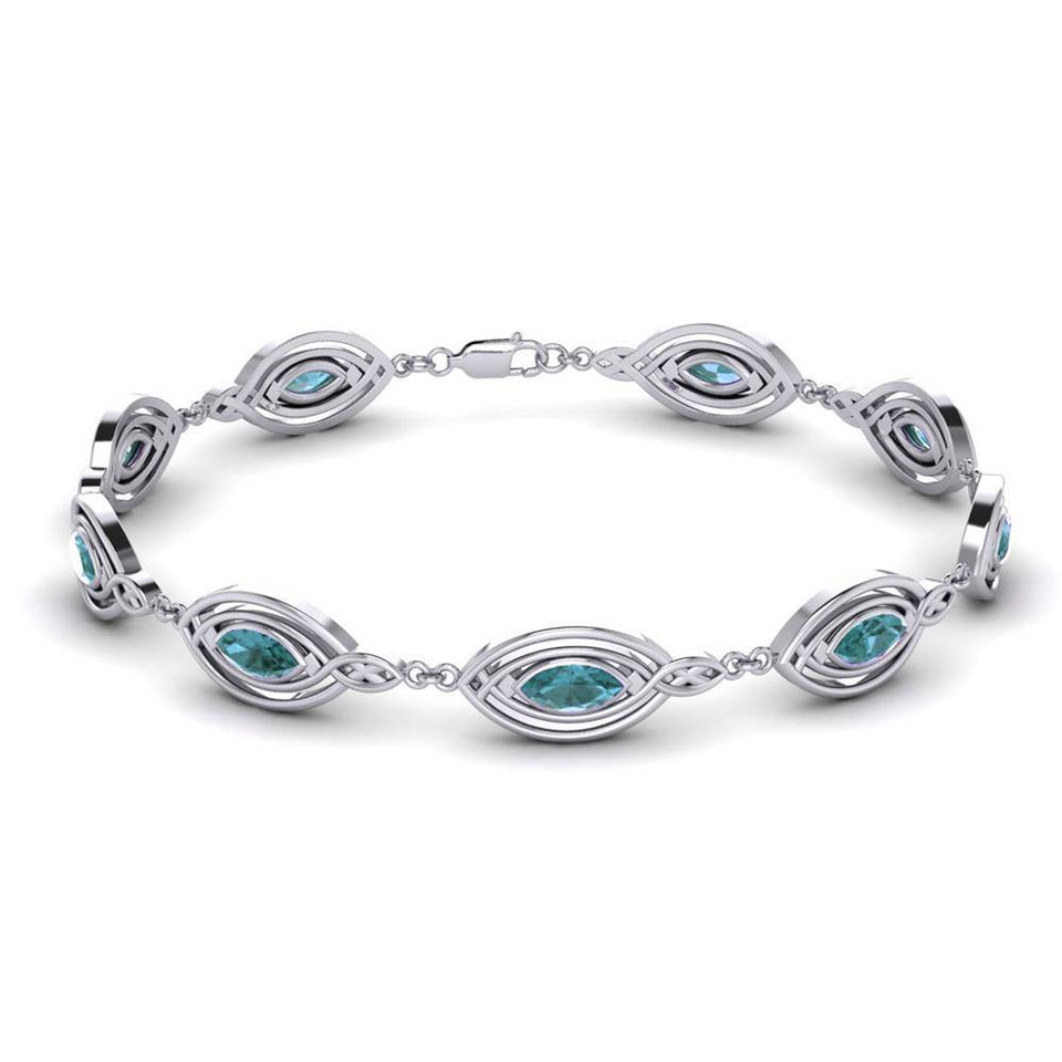 Filligree Gemstone Link Bracelet TBG282 peterstone.