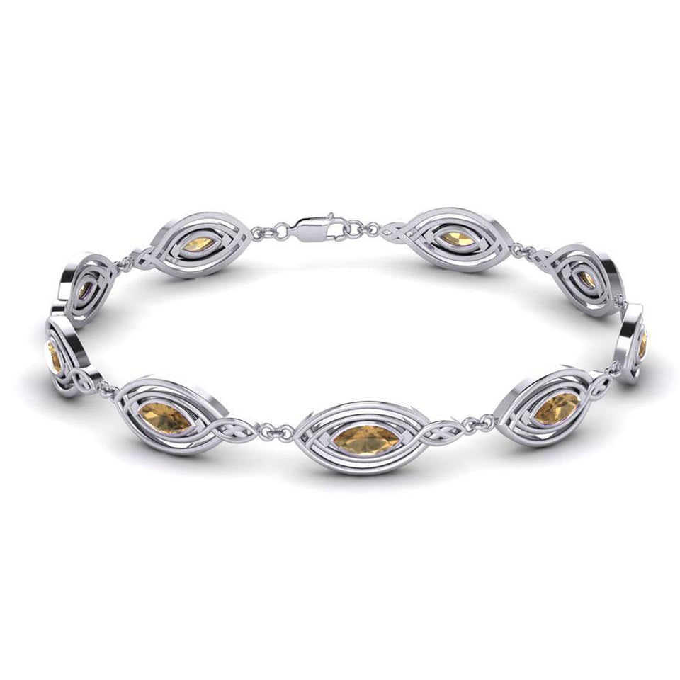Filligree Gemstone Link Bracelet TBG282