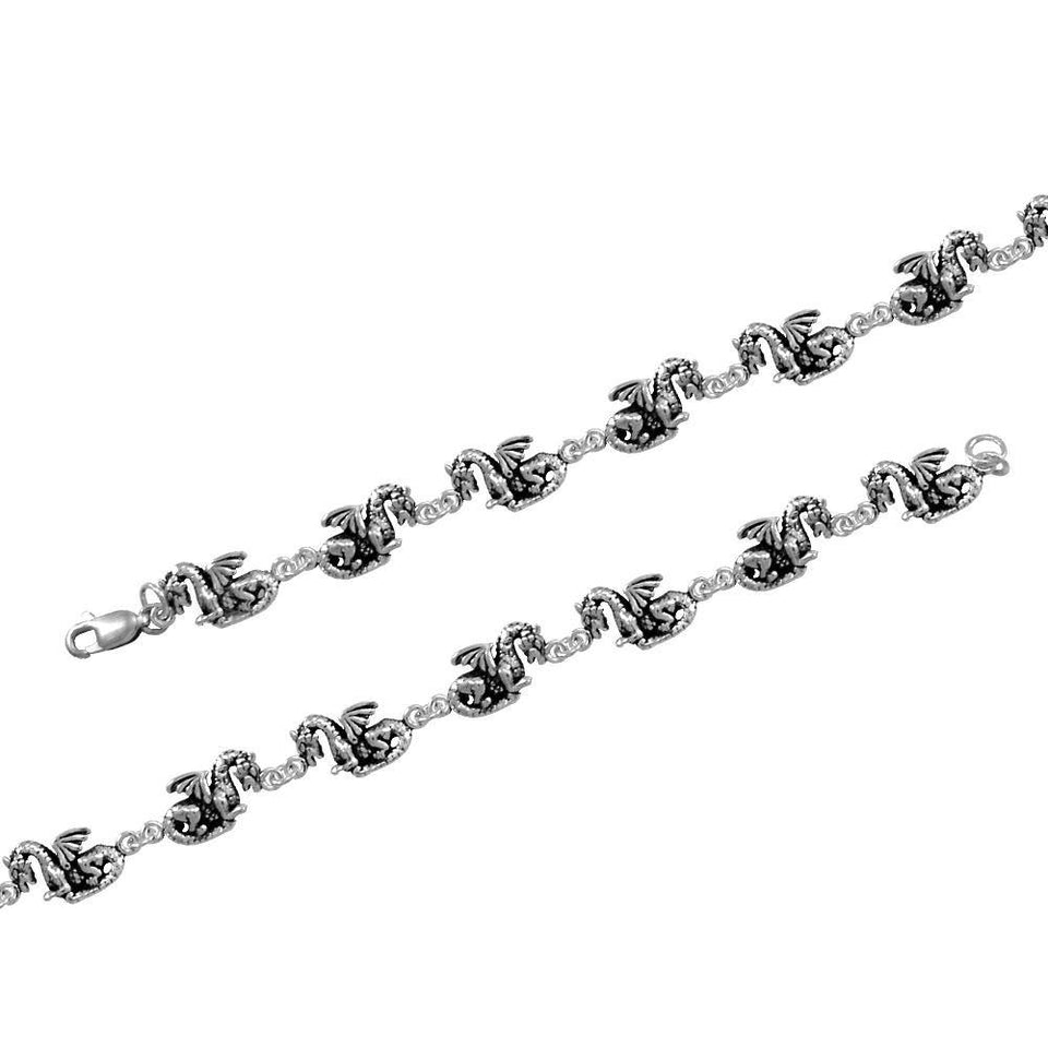 Fantasy Dragon Silver Bracelet TBG409 peterstone.