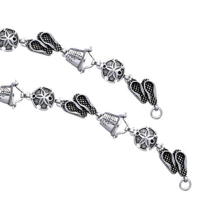 Itโ€™s more fun in the sand ~ Sterling Silver Jewelry Link Bracelet TBG450 peterstone.