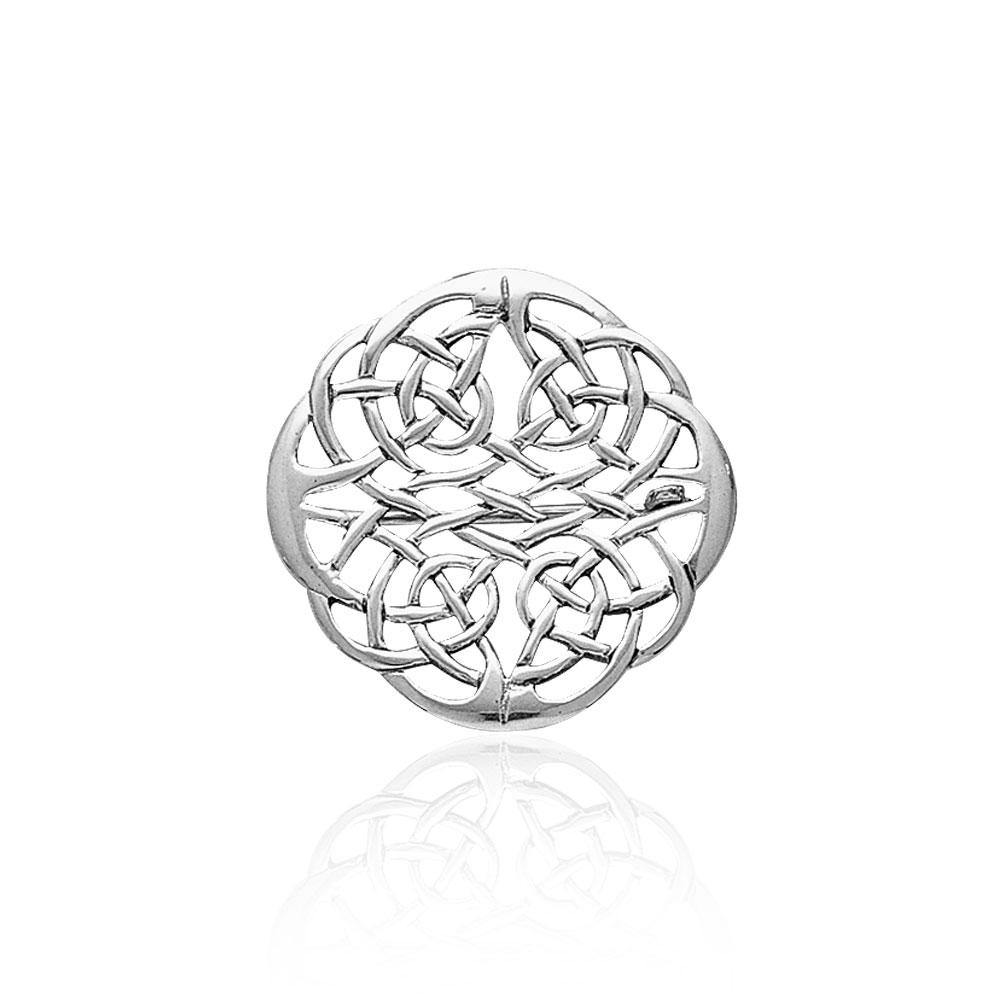 Celtic Knots Silver Brooch TBR008 peterstone.