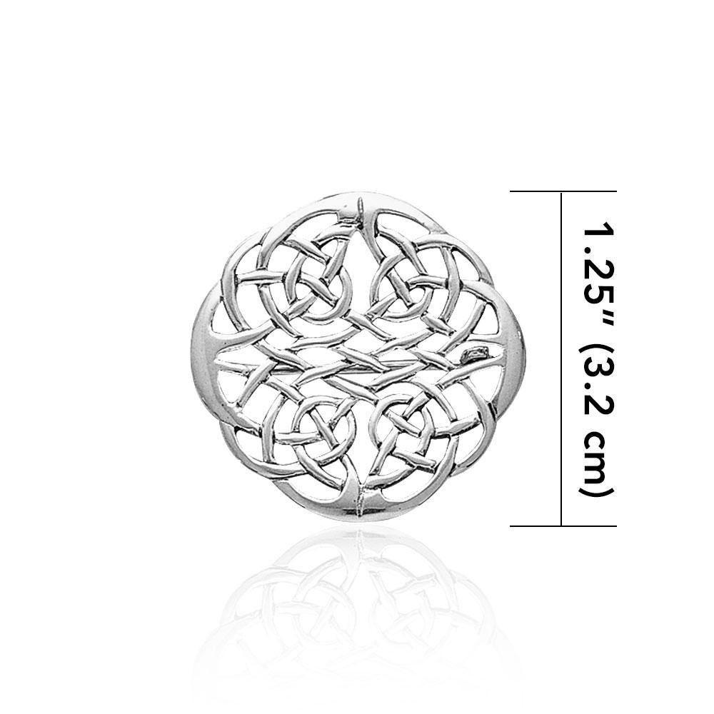 Celtic Knots Silver Brooch TBR008