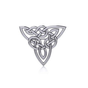 Celtic Trinity Knot Silver Brooch TBR017 peterstone.