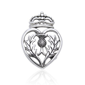 Speak bravery and honor ~ Sterling Silver Scottish Thistle Pin TBR184 peterstone.