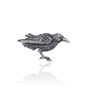 The mythical wisdom of a Raven ~ Sterling Silver Pendant TBR234 peterstone.