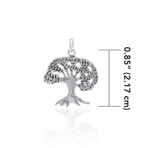 The Star Tree of Life Silver Charm TC081 Charm