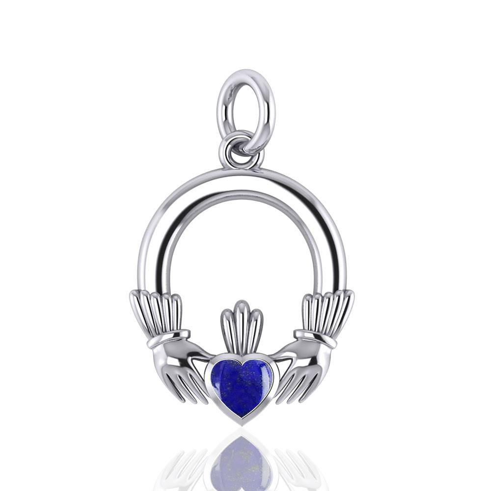 Celtic Claddagh Silver Charm