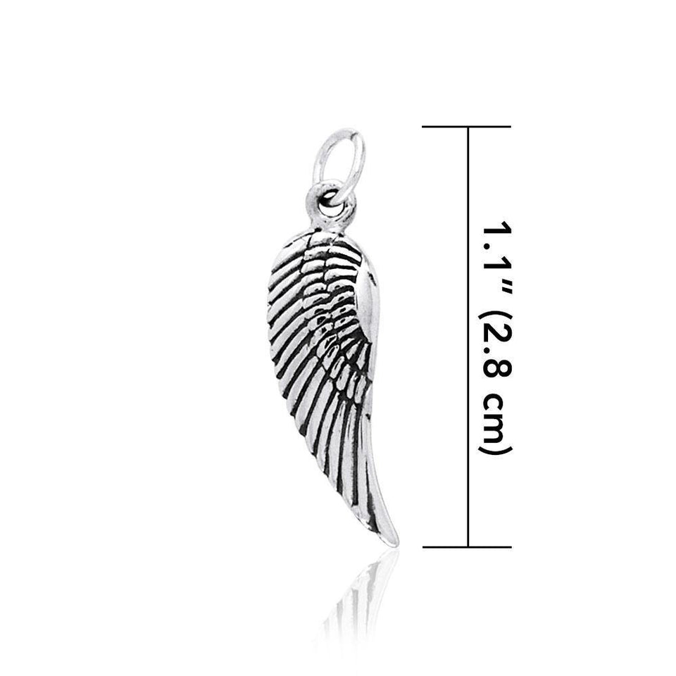 Angel Wing Silver Charm TCM309 peterstone.