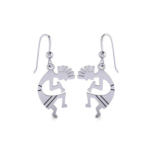 Kokopelli Silver Earrings TE095