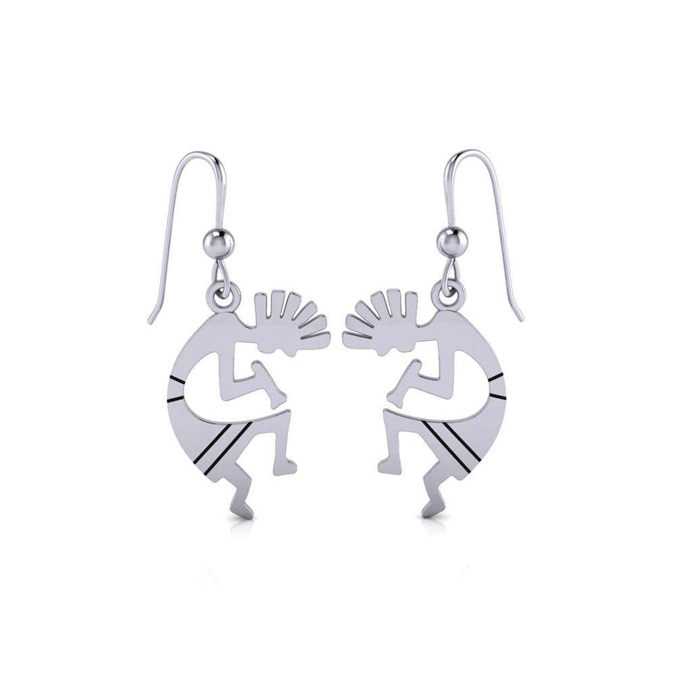 Kokopelli Silver Earrings TE095 Earrings