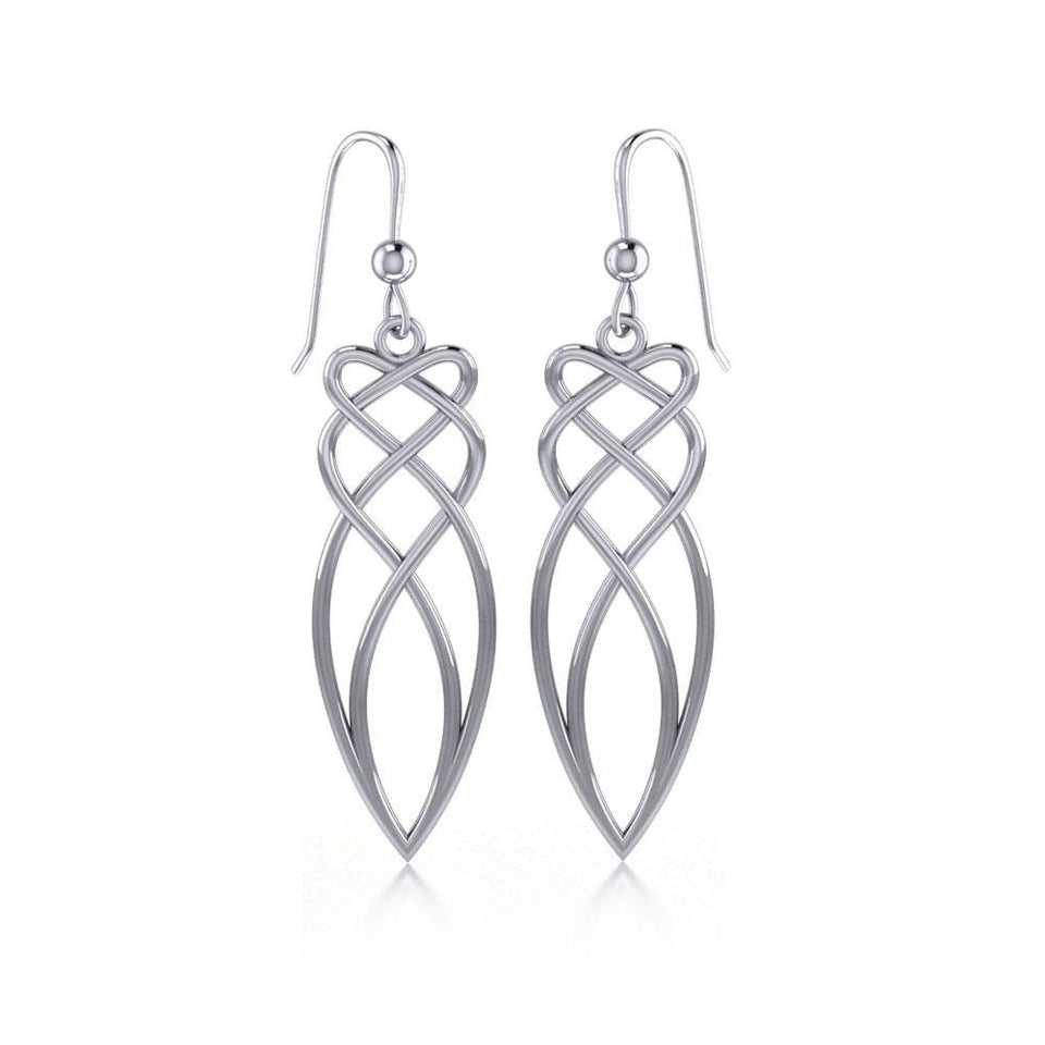 Celtic Knotwork Silver Dangle Earrings TE100 peterstone.