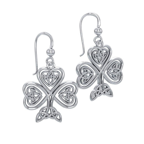 Celtic Knot Shamrock Earrings TE2919
