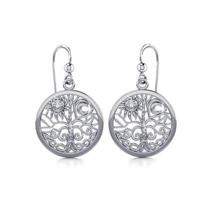 Celtic Tree of Life Silver Earrings TER060 peterstone.