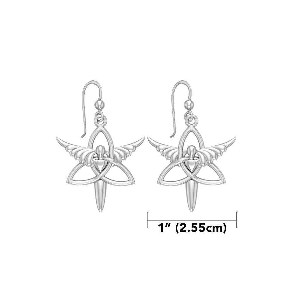 Angel Trinity Knot Sterling Silver Earrings