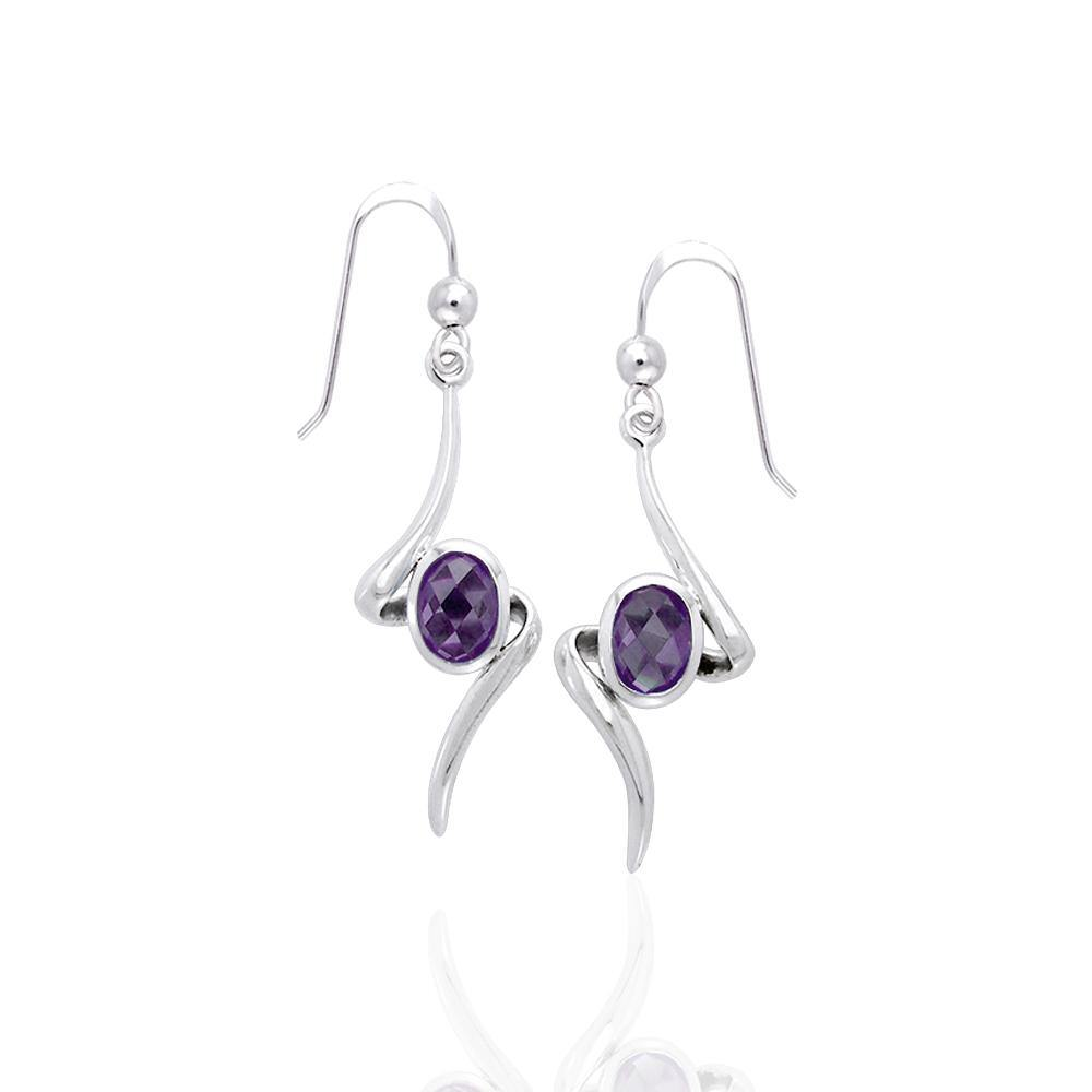 A gem of hope and magic ~ Sterling Silver Jewelry Earrings with Gemstone TER1139 peterstone.