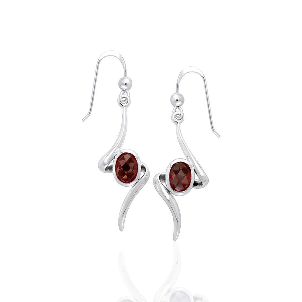 A gem of hope and magic ~ Sterling Silver Jewelry Earrings with Gemstone TER1139