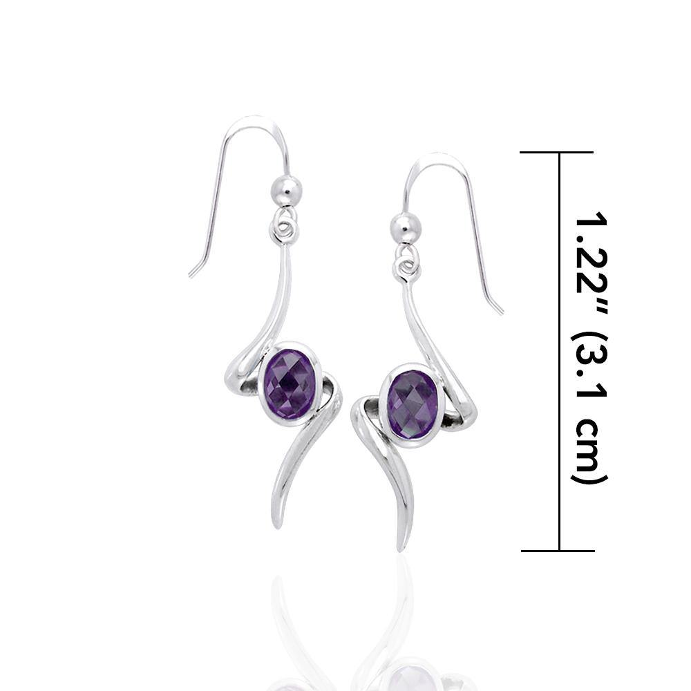 A gem of hope and magic ~ Sterling Silver Jewelry Earrings with Gemstone