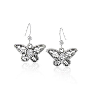 Delighted of the butterflyโ€™s beauty ~ Sterling Silver Jewelry Earrings with Gemstone TER1237 peterstone.