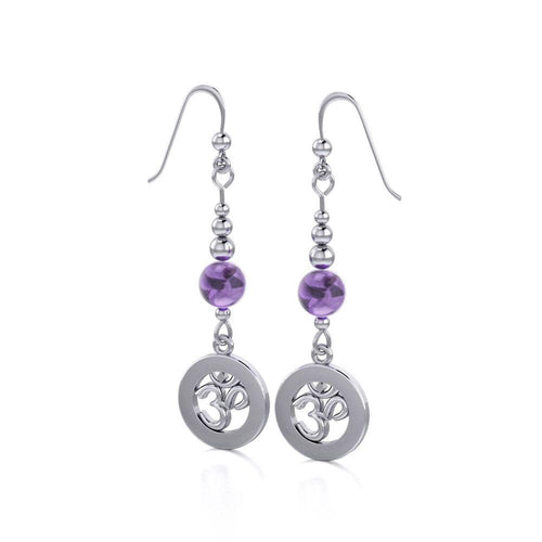The Om ~ Spiritual Mystical Earrings TER137 peterstone.