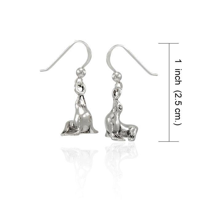 Sea Lion Sterling Silver Earring TER1506 peterstone.