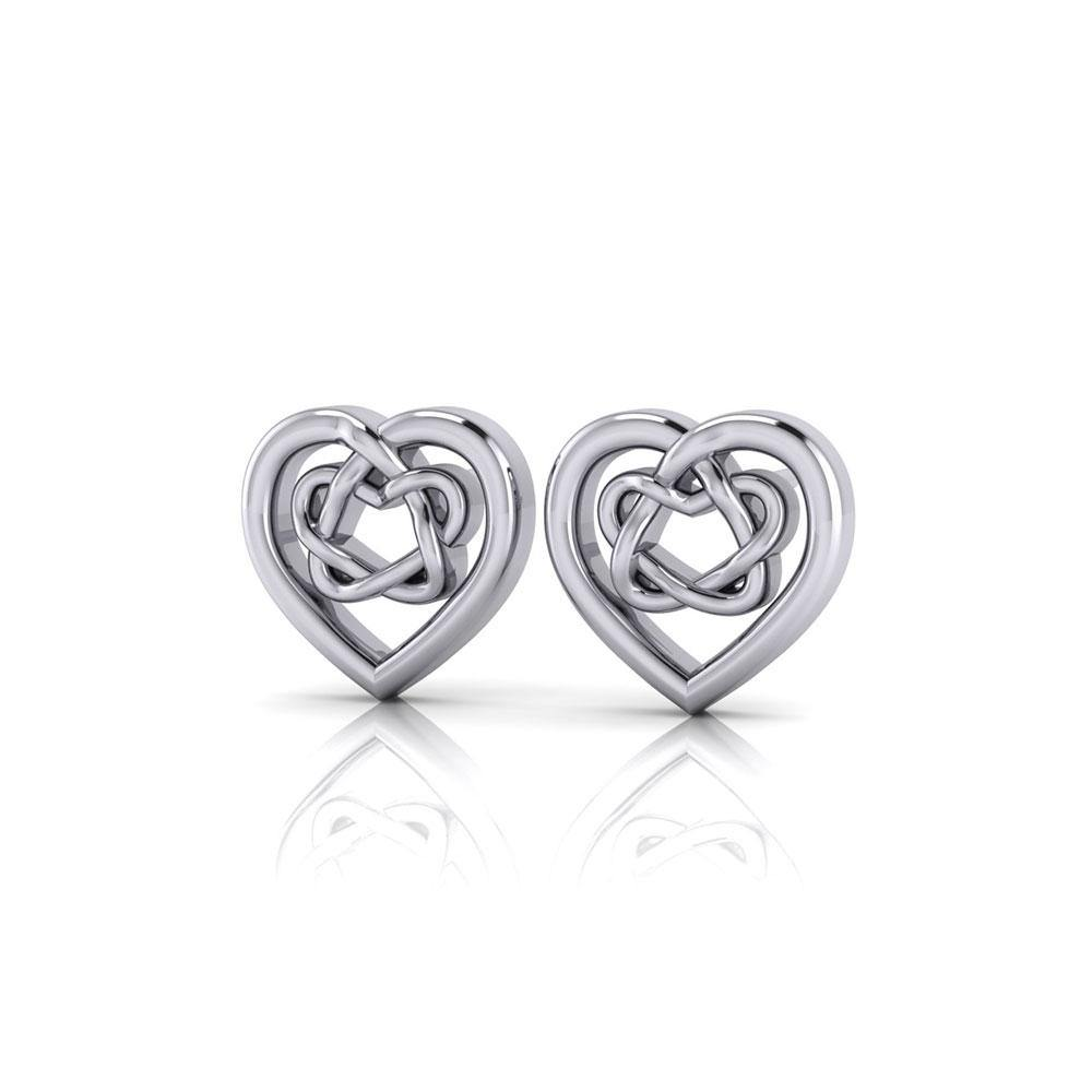 Celtic Heart Post Earrings TER1656