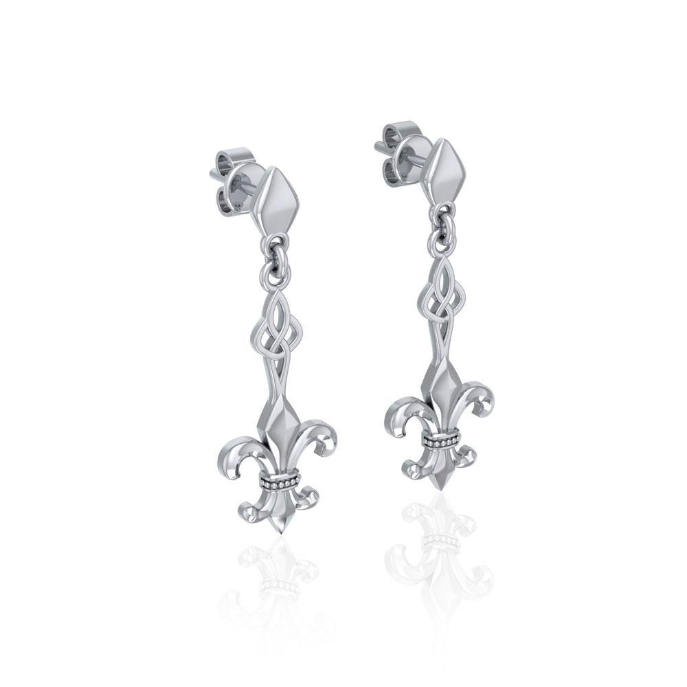 Dignified by the ancient Fleur-de-Lis ~ Sterling Silver Jewelry Post Earrings