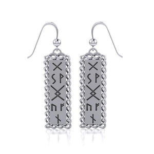 Runes of Woden Sterling Silver Earrings TER1684 peterstone.