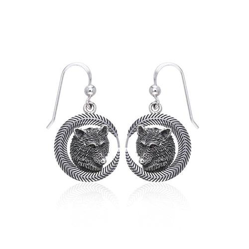 Wolf Sterling Silver Earrings TER1694 peterstone.