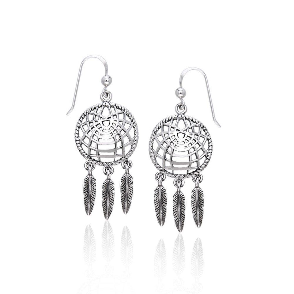 Dreamcatcher Sterling Silver Earrings TER1695