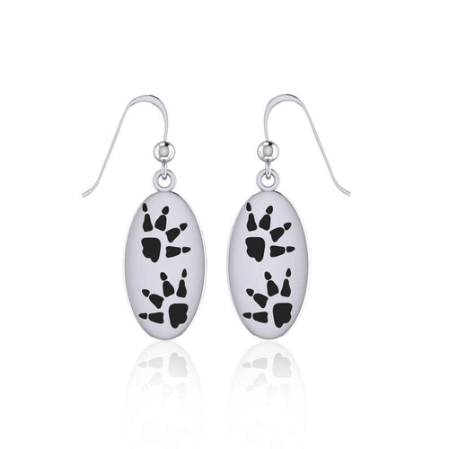 Wolf Tracks Sterling Silver Earrings TER1696 peterstone.