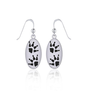 Wolf Tracks Sterling Silver Earrings TER1696