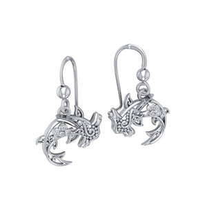 Fierce eminence ~ Sterling Silver Hammerhead Shark Filigree Earrings Jewelry TER1713 peterstone.