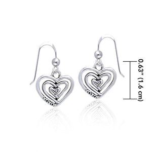 Full of Spiral Hearts ~ Sterling Silver Jewelry Earrings TER915
