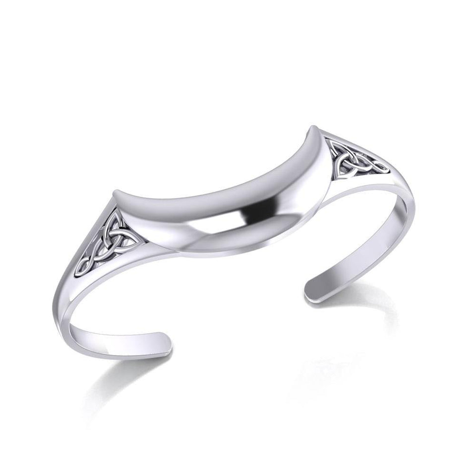 Crescent Moon Celtic Cuff Bracelet TMD063 peterstone.
