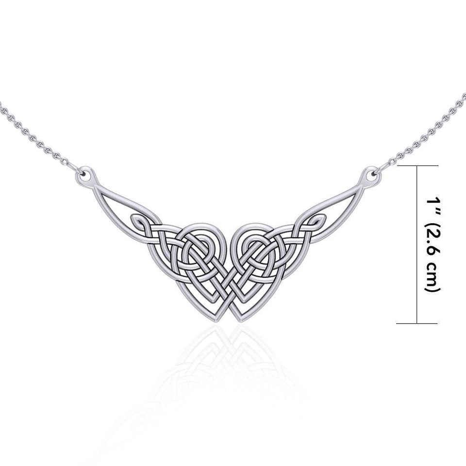 Celtic Knotwork Silver Necklace TN001 peterstone.