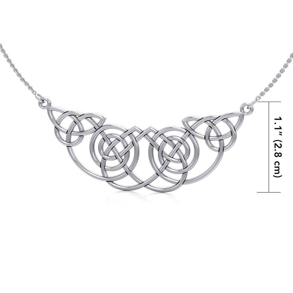Celtic Knotwork Silver Necklace TN002 peterstone.