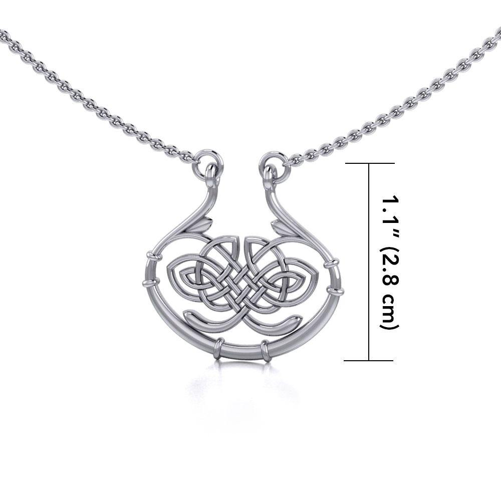 Celtic Knotwork Silver Necklace