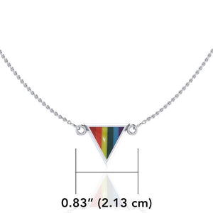 Rainbow Triangle Silver Necklace TN073 peterstone.