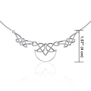 Celtic Knotwork Silver Necklace with Charm Holder TN121 peterstone.
