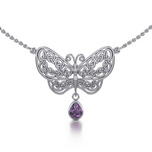 Spread Your Wings Like a Butterfly Necklace with Amethyst TN257BF