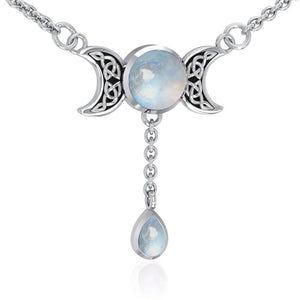 Blue Moon Silver Necklace TN258