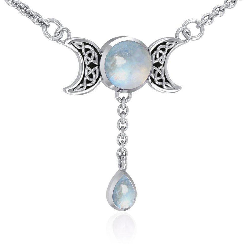Blue Moon Silver Necklace TN258 peterstone.