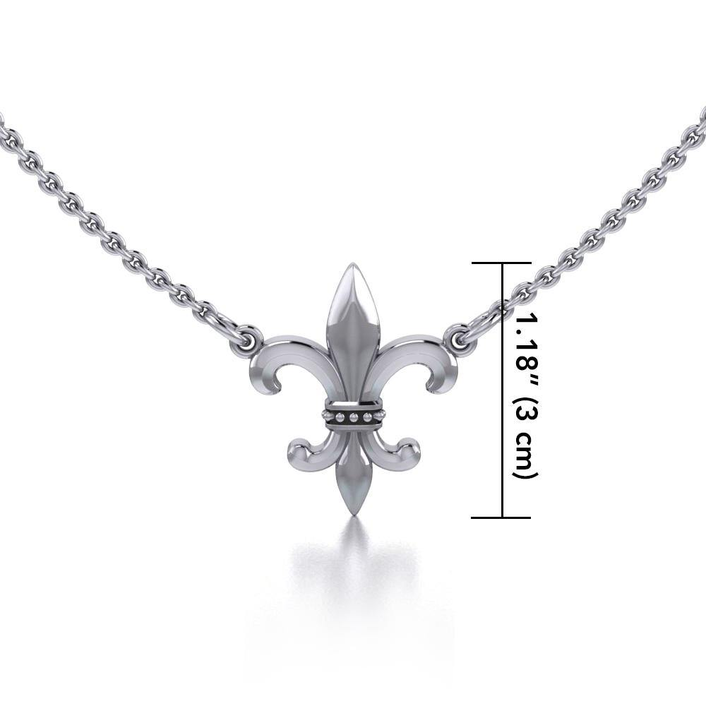 Fleur-de-Lis regal and historical touch ~ Sterling Silver Jewelry Necklace TNC054