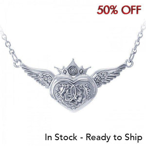 Brigid Ashwood Celtic Magdalene Silver Heart Necklace TNC062