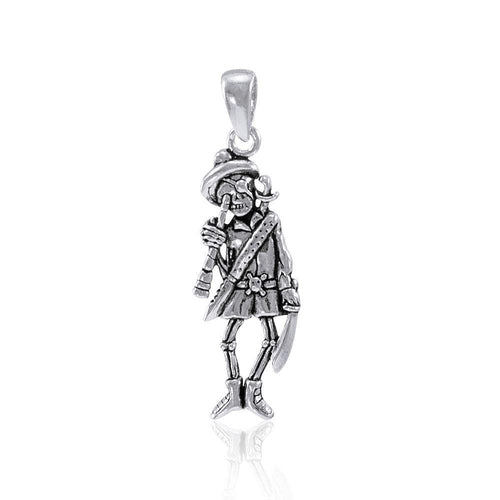 The long discovery of treasures in the sea ~ Pirate Skeleton with Spyglass Pendant TP3058 peterstone.