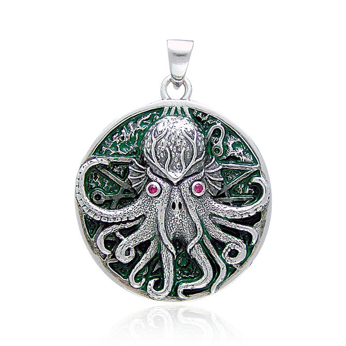 Great Cthulhu Silver Pendant by Oberon Zell TP3285