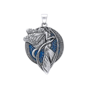 Moonlight Faery Sterling Silver Pendant with Enamel TP3431MBL