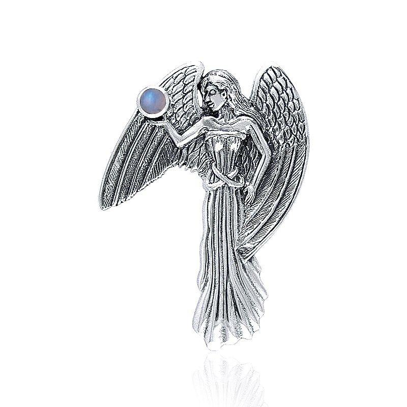 In the eyes of an Angel ~Sterling Silver Jewelry Pendant with Gemstone TP3578 peterstone.