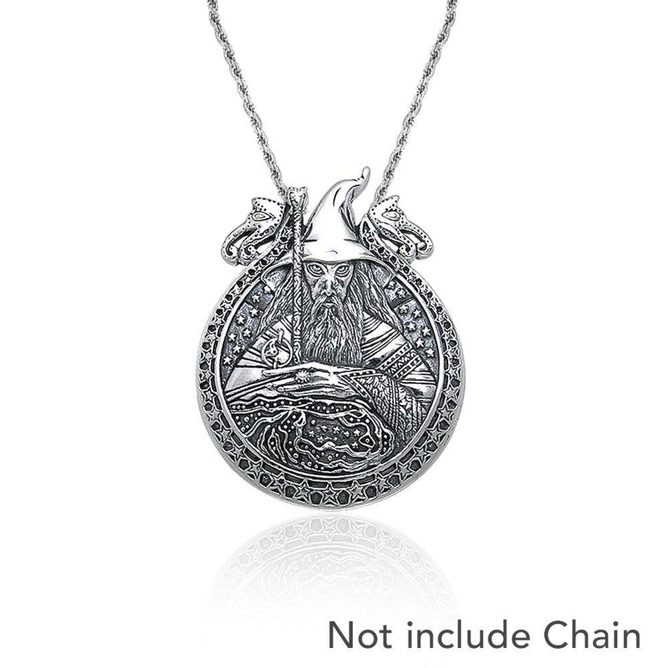 In the magical world of Wizardry ~ Sterling Silver Jewelry Pendant TP3595